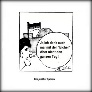 39-300x300 in 23 -  Bundesminister Eichel / political cartoon by O.F.D